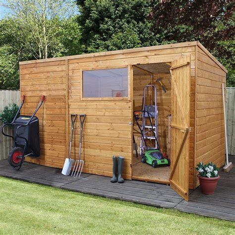 mercia shiplap pent shed  single door