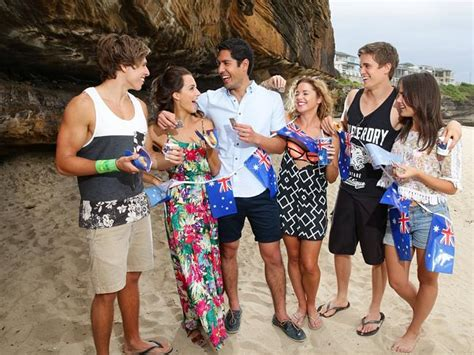 cast in home and away 2015 a relaxed australia day for home and away cast mates
