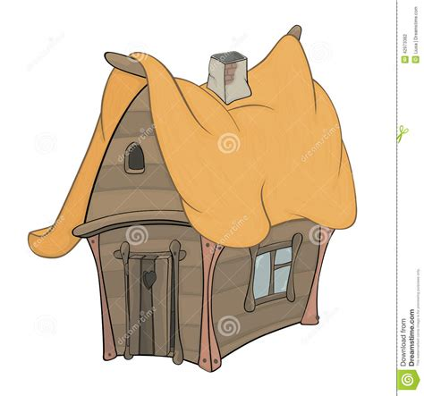 tiny house cartoon funny little house cartoon stock vector image 42973382