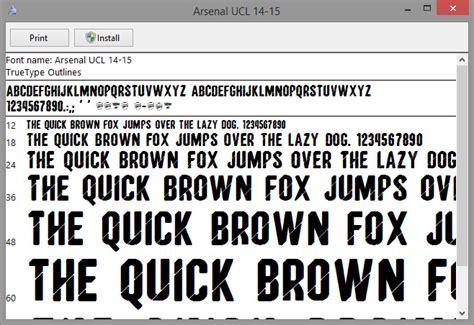 arsenal ucl font arsenal 2014 2015 ucl font ttf football fonts