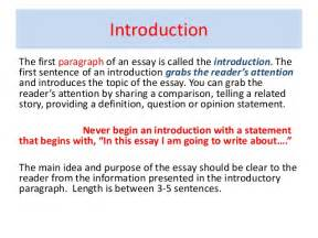 Opening Sentence Of An Essay by Connection Between Paragraph And Essay