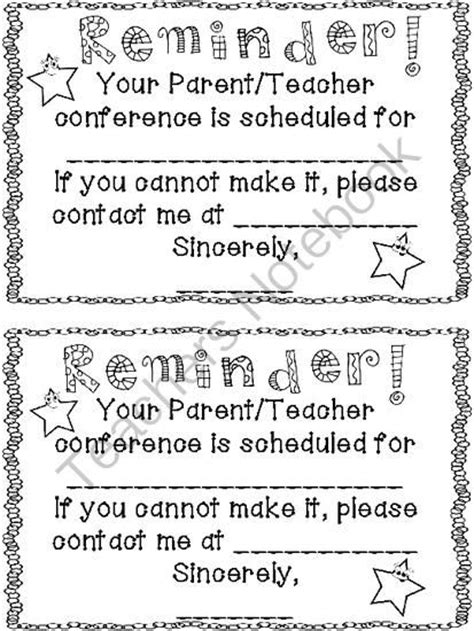 Reminder Templates For Teachers p t reminder notice classroom