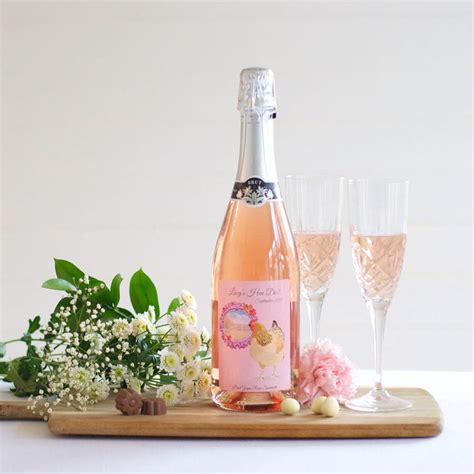 personalised sparkling wine for hen parties by bottle