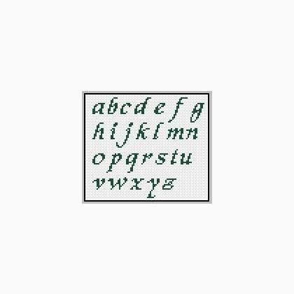 lettere minuscole punto croce alfabeto minuscole da casacenina schemi punto croce