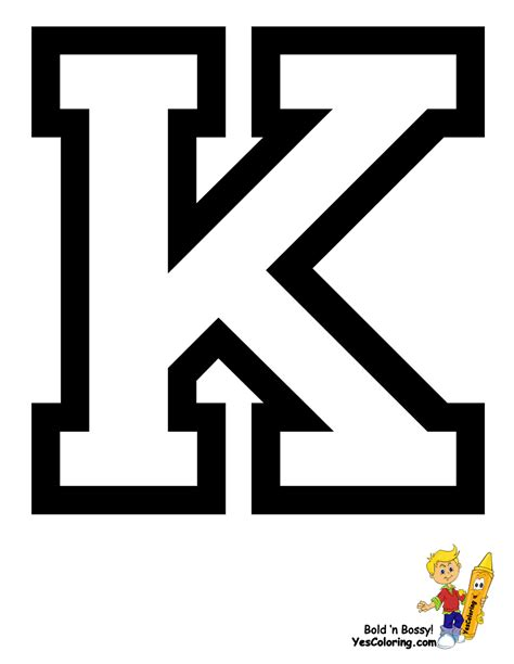 College With Letter K Free Coloring Pages Of Letter K