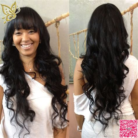 Body Wave Hair With Bangs | best long full lace human hair wigs with bangs virgin