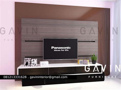 design backdrop tv minimalis pembuatan backdrop tv untuk klien green andara jaksel