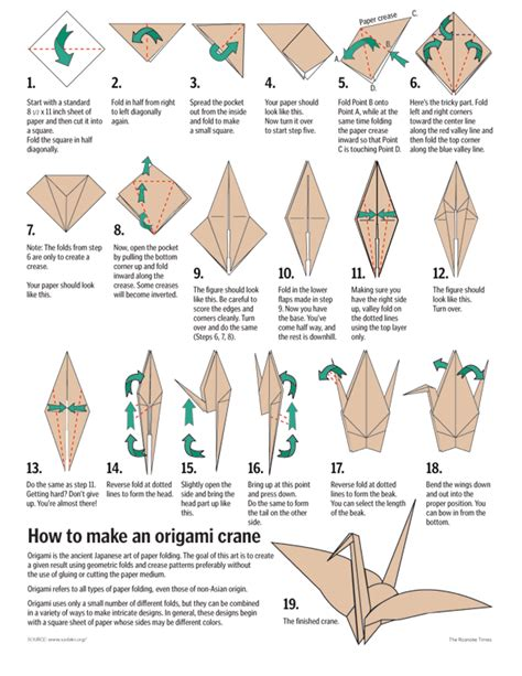 How To Fold An Origami Crane - a thousand cranes project how to fold a crane