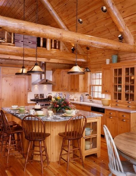 Log Cabin Kitchen Islands by 17 Best Images About Log Cabin Kitchens On Cabinets Cabin And Islands