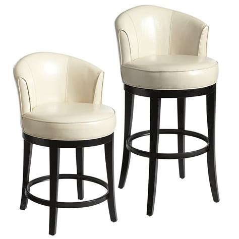 Isaac Swivel Counter Stool by Isaac Swivel Bar Counter Stools Ivory Faux Leather