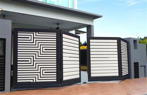 pin  david rodgers  fence house gate design house