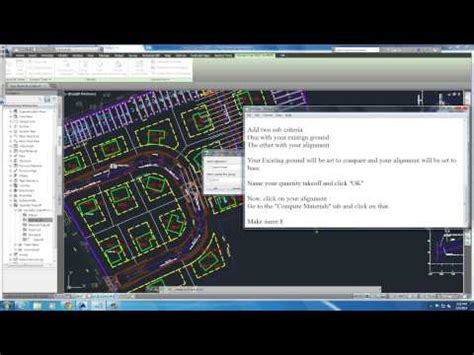 tutorial autocad civil 2010 autocad civil 3d earthworks 2014 tutorial youtube