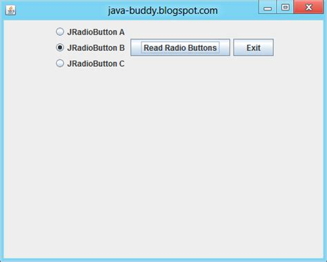 jradiobutton exle in java swing java buddy java swing exle place elements in vertical