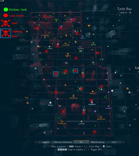 div location the division guide zone bosses division tech and