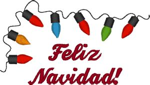 merry christmas  spanish embroidery design