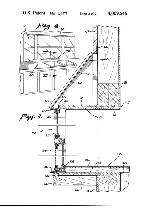 bay window section detail patent us4009546 pre assembled unitary bay window