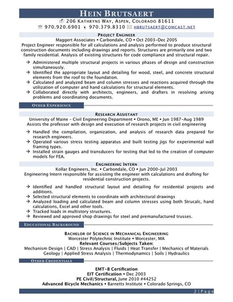 Industrial Resume Examples by Engineering Resume Out Of Darkness