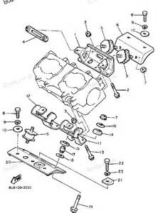 1985 v max vmx540j yamaha snowmobile engine bracket diagram and parts