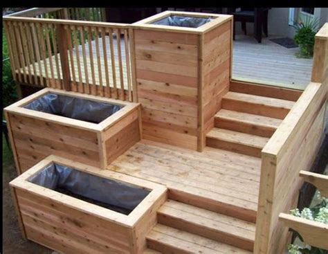 Planter Box Deck by Another Multi Level Deck Planter Box Deck Planter Boxes