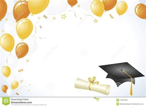 background design graduation graduation design with gold and yellow balloons stock