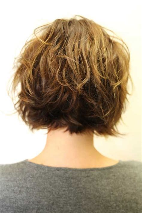 back view wavy short bob for thick hair 2015 30 short layered haircuts 2014 2015 short hairstyles