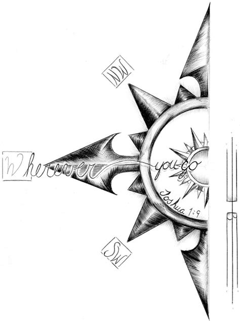 tribal compass tattoo designs joshua compass tat by kadeshra khol on deviantart