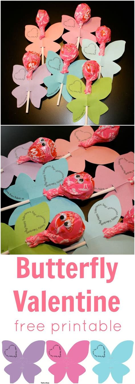 valentine s day lollipop flowers with free printables a we heart parties free printable butterfly flower