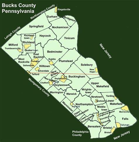 map of bucks county bucks county pennsylvania township maps