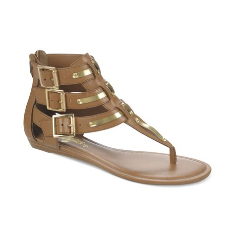 gladiator sandals lyst fergie samba gladiator sandals in brown
