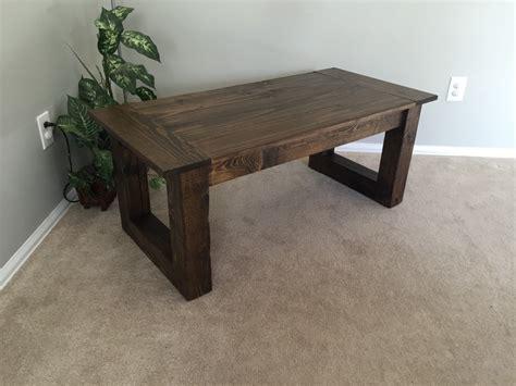 rustic coffee table walnut finish