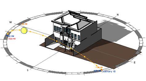 sun path diagram sketchup revit architecture 2011 view controls enhancements cadnotes