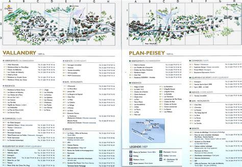 Peisey Vallandry Plan de la station Le plan de Peisey Vallandry