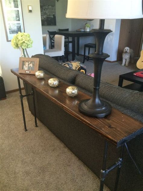 sofa table with pipe legs 25 best ideas about sofa tables on rustic