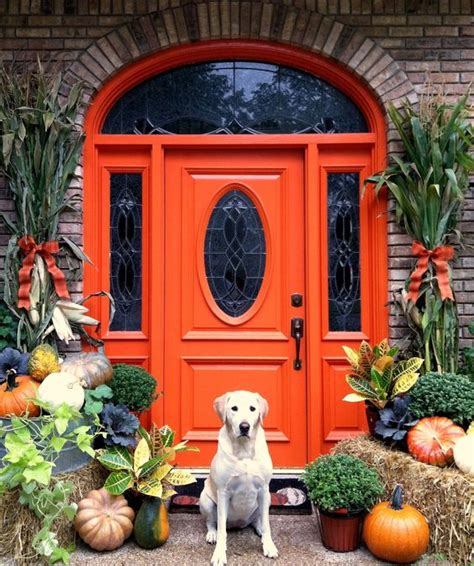 orange front door for the home pinterest 26 bold front door ideas in bright colors shelterness