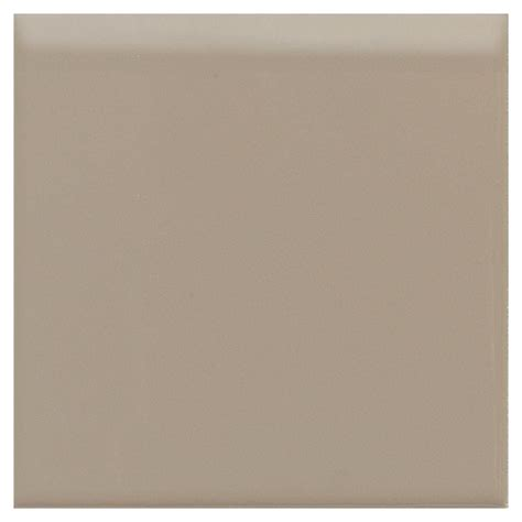 daltile semi gloss uptown taupe 4 1 4 in x 4 1 4 in ceramic bullnose wall tile 0132s44491p1