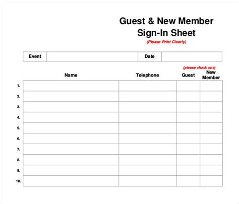 75 Sign In Sheet Templates Doc Pdf Free Premium Templates Membership Sign Up Template