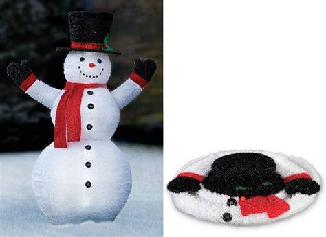 pre lit pop up snowman the green head