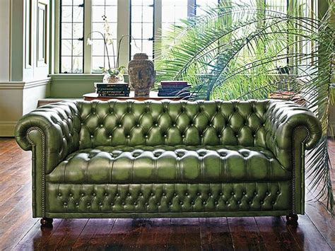 best 25 green leather sofa ideas on green