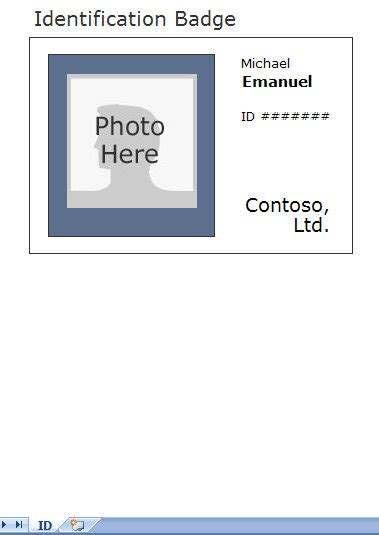 State Id Template by Photo Identification Card Template Employee Id Card