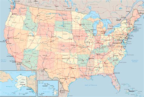 american map america us map free large images