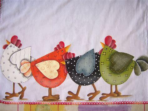 Patchwork Chickens - quarteto de galinhas artmania artesanatos elo7
