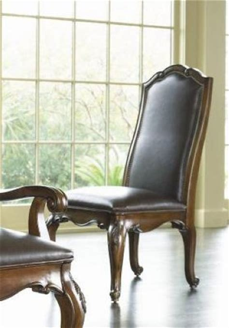 Thomasville Leather Dining Room Chairs 2 Thomasville Furniture Vintage Chateau Leather Arm Or