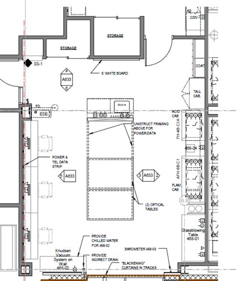 laboratory floor plan physical chemistry teaching lab