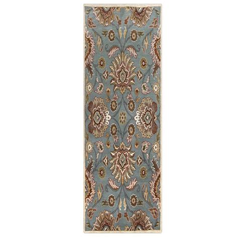 collection area rugs home decorators collection echelon blue 2 ft 6 in x 8 ft runner 8784720310 the home depot
