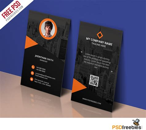 free card modern corporate business card template free psd