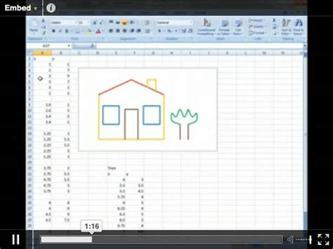 how to draw doodle using excel drawing in excel mathsclass