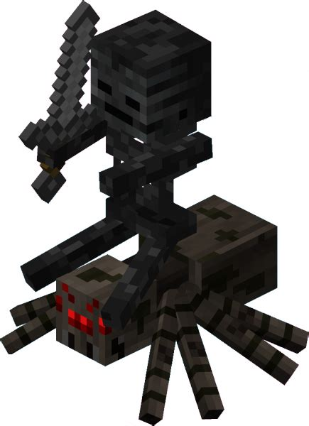 minecraft coloring pages spider jockey featured minecraft mob the wither skeleton the dark hound