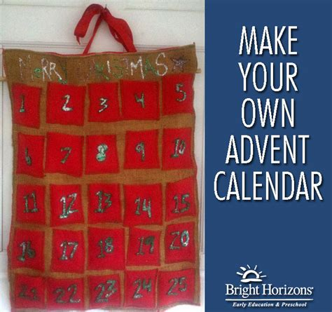 How To Make Handmade Calendar - advent calendars craft ideas for