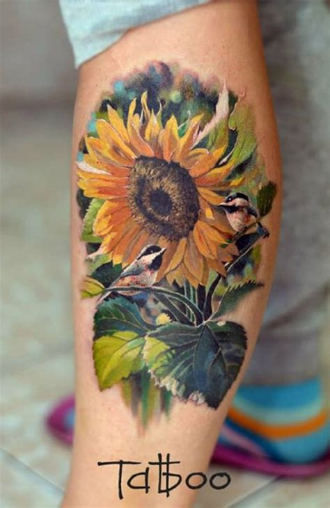 sunflower rose tattoo and sunflower designs