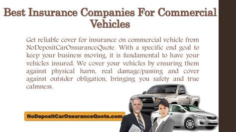 commercial vehicle insurance companies  united states